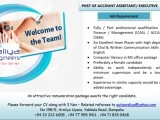 Job Vacancy for Accounts Assistant / Executive