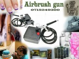 Airbrush gun and compressor -