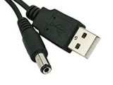 USB to 5V DC Barrel Jack Cable