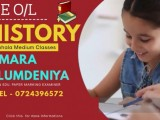 Online O/L History Individual / Group Tuition Classes